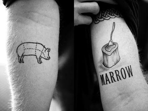 Love the marrow chef tattoo - great font