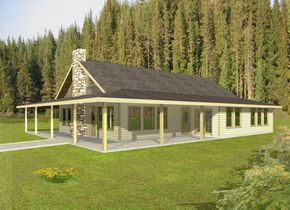 Rustic House Plans With Wrap Around Porches Standard Frame Sun Roomwrap Around Porch Cozy Open F In 2020 Rustic House Plans Ranch House Plans Ranch Style House Plans