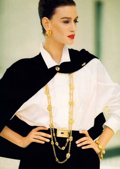 Best Fashion Look : Anne Klein, American Vogue, February Photograph by Arthur Elgort. Anne Klein, American Vogue, February Photograph by