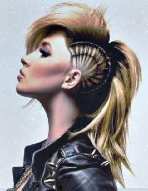 Punk Long Mohawk Hairstyles For Women Mohawk Hairstyles