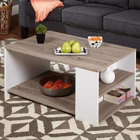 Simple Living Urban 3 Shelves Coffee Table Particle Board Pvc