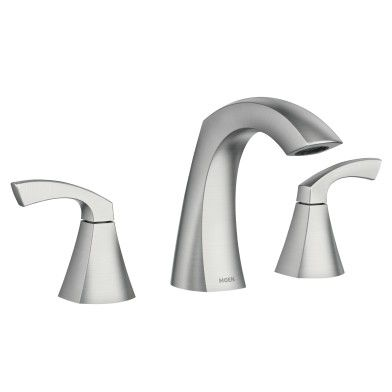 Lindor Spot Resist Brushed Nickel Two Handle High Arc Bathroom
