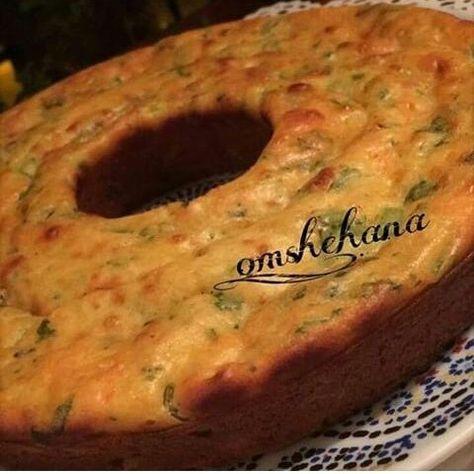 الكيكة المالحة بالجبن والخضار Food Recipes Arabian Food