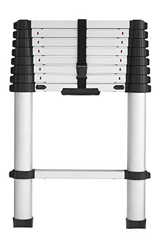 Cosco 20309t1ase Smartclose Telescoping Aluminum Ladder With Pinch Free Soft Close Locking Mechanism 300 Pound Capacity 8 5 Ft Ladder With 12 Ft Max Reach Aluminium Ladder Cosco Telescopic Ladder