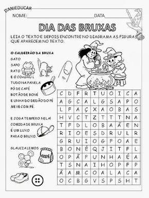 Atividades De Alfabetizacao Dia Das Bruxas Atividades De