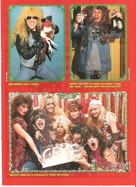 I mean. You can't really blame Motley Crue for having such an insane Christmas poster. | 18 Extremely Awkward Celebrity Christmas Photoshoots