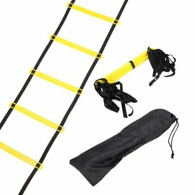 Advertisement Ebay Agility Ladder For Soccer Speed Fitness Feet Training Gym Tools 10 Rung 15 Feet Agility Ladder Speed Training Football Workouts