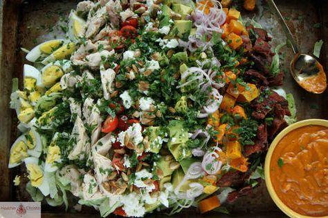 Autumn Cobb Salad with Pumpkin Dressing | 32 Ingenious Ways To Eat Pumpkin All Day Long