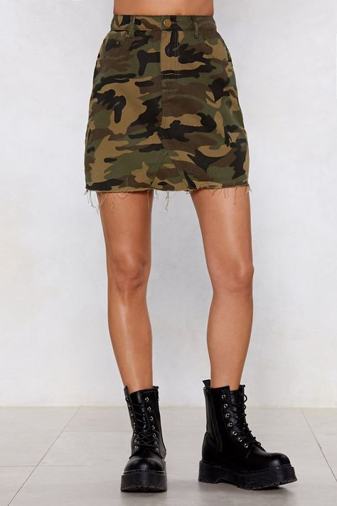 Bite the Bullet Camo Skirt