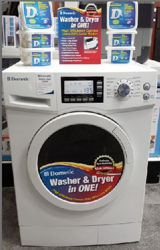 Dometic Washer and Dryer Combo -Ventless. One we find a new apartment, we may need one of these portable little guys. Downside of historic buildings..no washer hook-ups.
