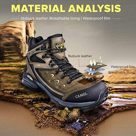 a79efdc1ca14 CAMEL Wanderschuhe Outdoor Trekking High/Low-Top Professionelle ...