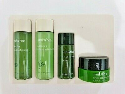Innisfree Green Tea Special Kit Ex 4 Items Skin Lotion Cream Serum New Ebay In 2020 Cream Lotion Skin Lotion Cream Serum