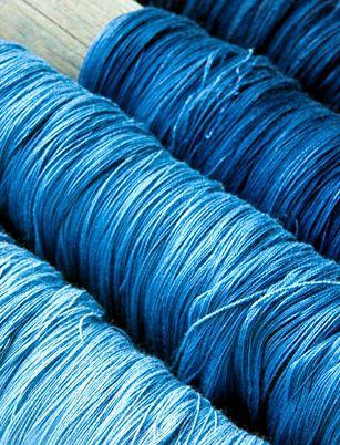 Naturally-dyed indigo from Mali
