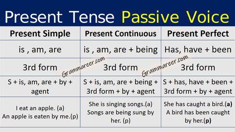 Present Tense Passive Voice With Urdu Explanation In 2020