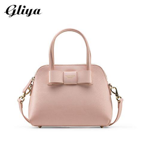 Gliya 2016 Summer Handbag Women Fashion Pink Bowknot Shell