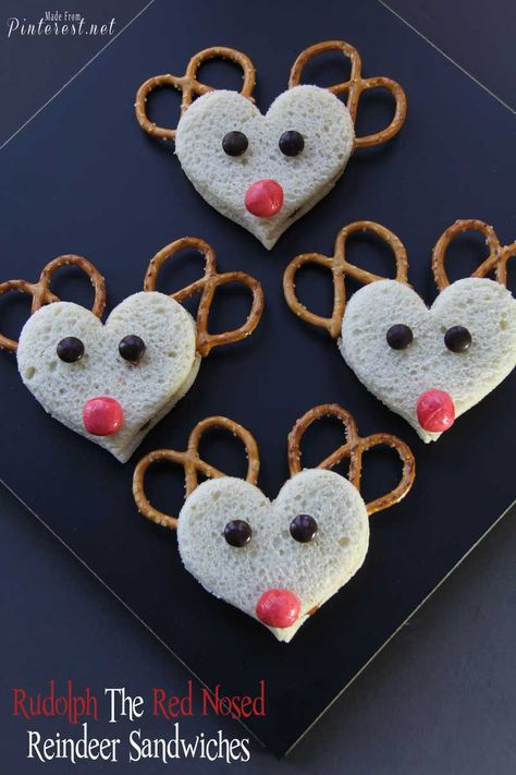 Rudolph The Red Nosed Reindeer Sandwiches - These adorable sandwiches only take minutes to make. The adults enjoyed them just as much as the kids did!