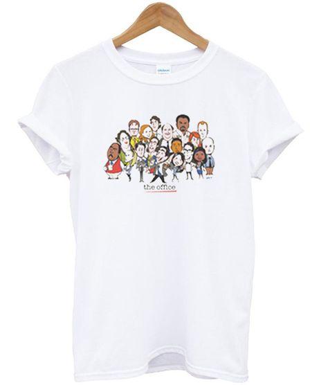 Christmas Made To Order Cast.The Office Cast Cartoon T Shirt Tshirt Office Cartoon