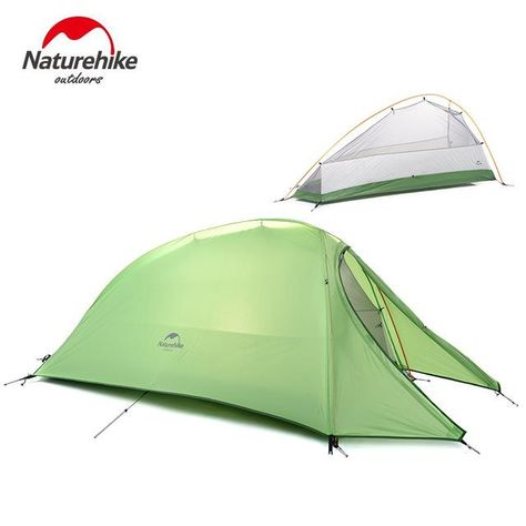 NatureHike 1 Person Tent Double layer Tent Camping 4 Seasons