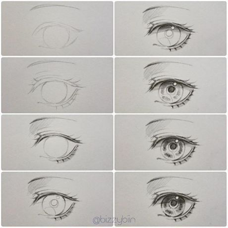 Eye Tutorial V I Did It With The Hair Tutorial Tut Eye Drawing Paint Pencilart Pencil Anime Drawings Tutorials Eye Drawing Tutorials Eye Drawing