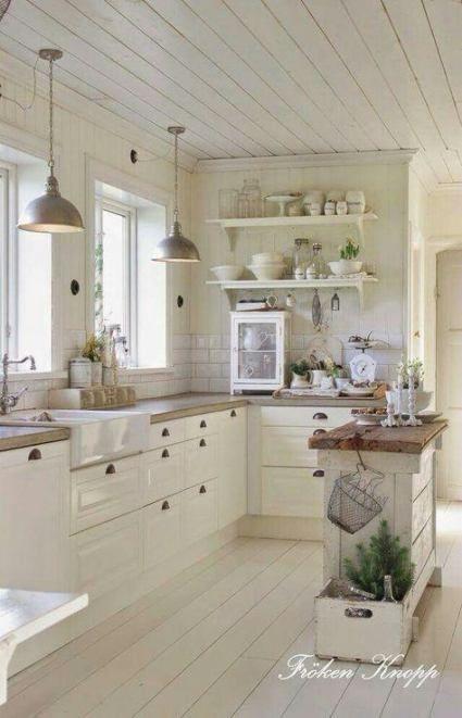 Piccola cucina shabby chic provenzale con doppio lavello e. 26 Best Ideas For Kitchen Ikea Bodbyn Sinks Decoration De Cuisine Rustique Idees Dosseret Cuisine Meuble Cuisine Blanc