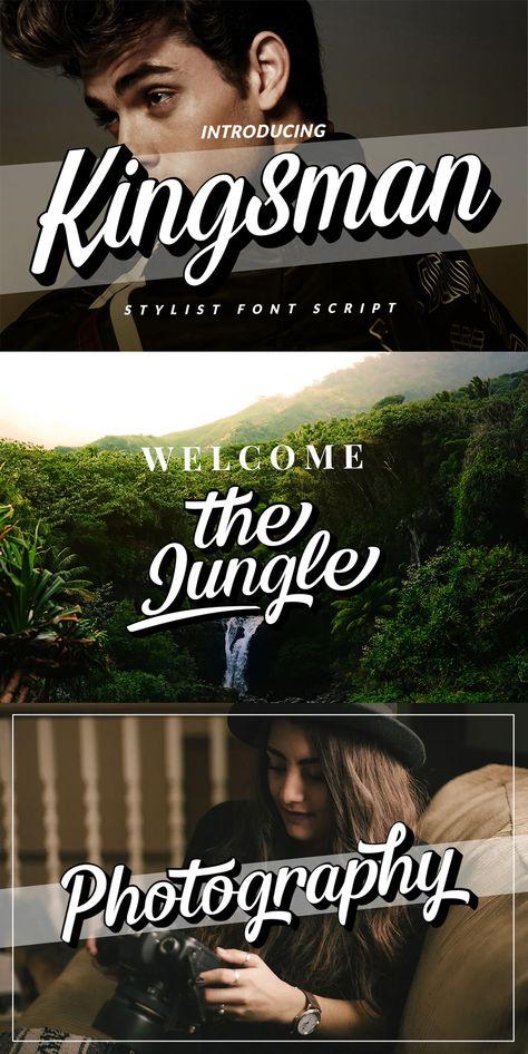 Extrude Kingsman Branding Logotype Script
