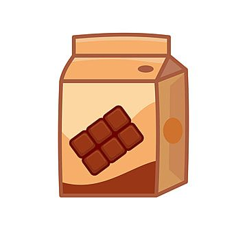Chocolate Milk Box Vector Illustration With Cute Design Isolated On White Background Milk Box Chocolate Png And Vector With Transparent Background For Free D Art Drawings Simple Spring Flowers Background Chocolate