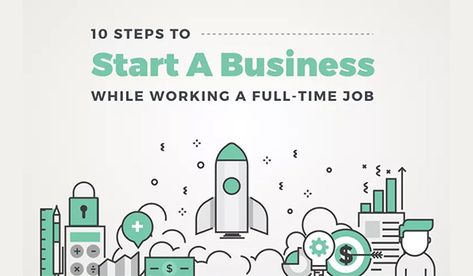 How to Start a Business While Working Full Time - Infographic