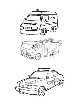 Great Resource To Use When Teaching About Emergency Vehicles Or Community Helpers Emergency Vehicles Emergency Coloring Pages