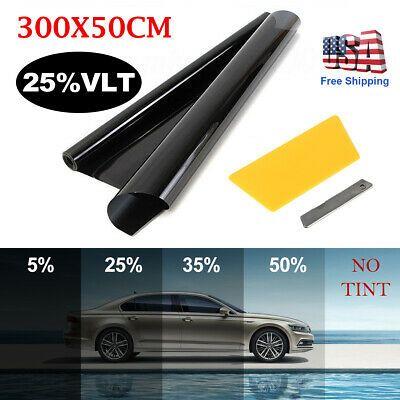 Window Tint Film Sunshade 25 Vlt Uncut Roll Auto Car Home Office Glass Anti Uv Window Tint Film Tinted Windows Tints