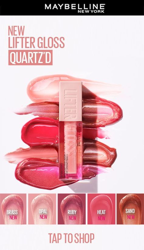 Just when you thought Lifter Gloss couldn't get any better, we launched 5 NEW SHADES! This formula visibly smoothes lip surface and enhances lip contour with high shine for hydrated, fuller-looking lips! Tap to shop!