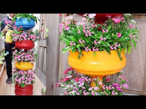 Recycle Plastic Bottles Into Beautiful Multi Storey Flower Pots