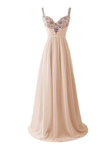 Dresstells Women's Long Straps Chiffon Prom Dress Ruffles Evening Dress Party Dress with Sequins Champagne Size 6 Dresstells http://www.amazon.co.uk/dp/B00U8HN6B0/ref=cm_sw_r_pi_dp_laLgvb009D37G