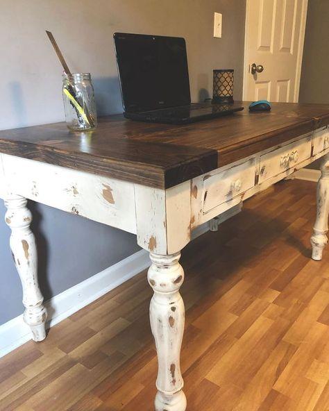 Custom Homeoffice Desk: #customfurniture #workspace #officedesk #customwoodworking