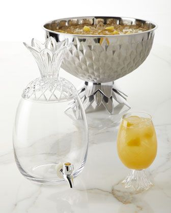 Godinger Gold Finish Pineapple Bowl