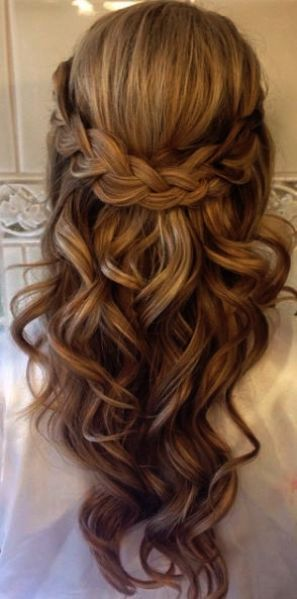 Wedding Hairstyles Real Brides Simple Bridesmaid Hairstyles Down Long Hair Styles Hair Styles Braids For Long Hair