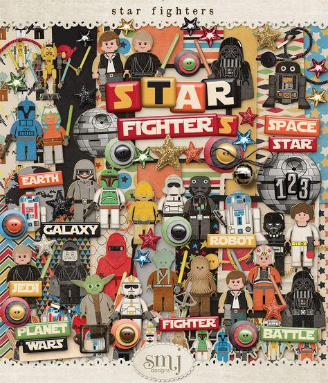 Star Fighters Bundle   Shabby Miss Jenn Designs Star Wars