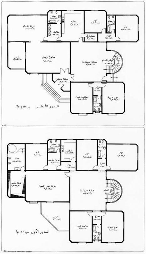 خرائط منازل وديكورات منازل سبلة عمان Architectural House Plans How To Plan Villa Plan