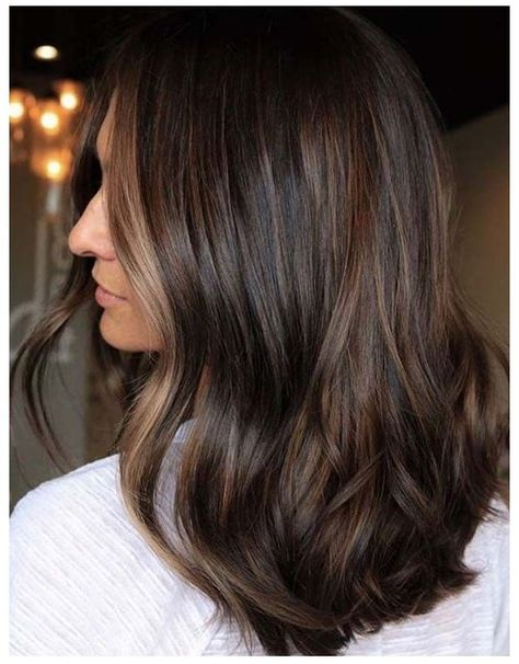 Rich Brown Hair, Brown Hair With Highlights, Brown Hair Balayage, Hair Color Balayage, Rich Brunette Hair, Brunette Color, Espresso Hair Color, Long Scene Hair, Scene Hair Colors