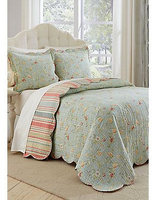 Waverly Garden Glitz Kng 3 Pc Bdsprd Set Country Bedding Sets Bed Linens Luxury Bed Spreads