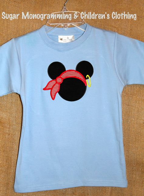 Mickey Mouse Pirate Applique Shirt for Boys by SugarMonogramming, $24.00