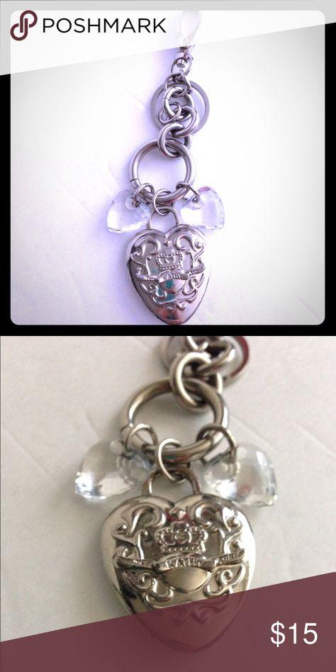 Kathy Van Zeeland silver heart Keychain! Kathy Van Zeeland silver heart Keychain! Barely used. Kathy Van Zeeland Accessories Key & Card Holders