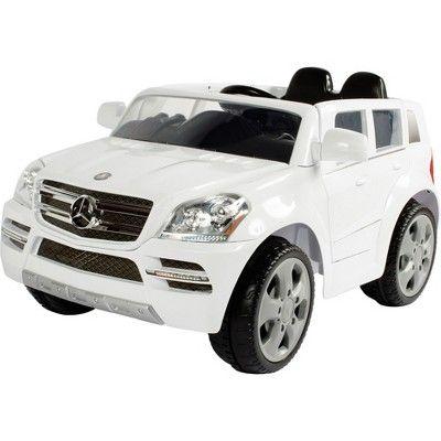 Rollplay Kids Ride On 6v Mercedes Benz Gl450 Suv White Kids