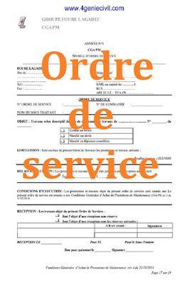 Modele Ordre De Service Marche Public Public