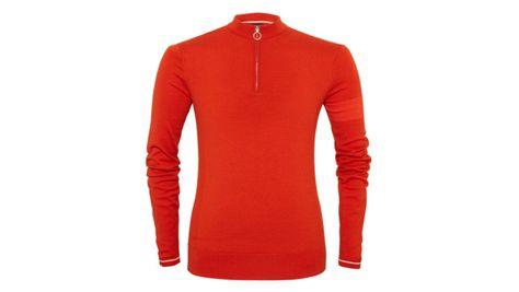 4591d87eb Orange Long Sleeve Merino Jersey for city cyclists