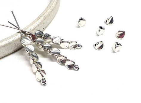 10pcs silver double 1.2mm metal wire headbands,balls end,nickle free,lead free