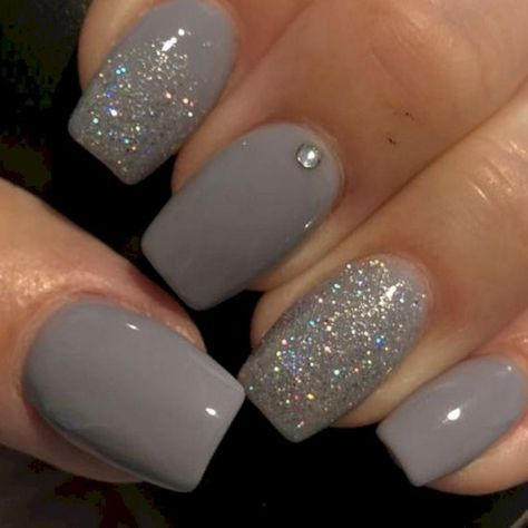 Trendy Nails Acrylic Glitter Colour Ideas Nail Colors Winter Nails How To Do Nails