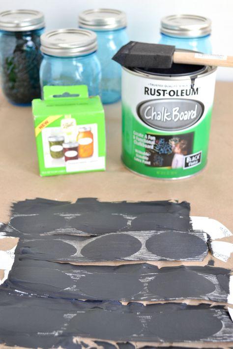 chalkboard labels, DIY chalk labels