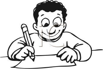 Writing black and white. Kids clipart panda free