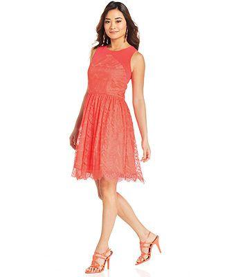 Jessica Simpson Sleeveless Cutout Lace Dress