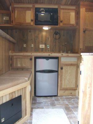 Adding a door between tack room and horse area in horse trailer ...